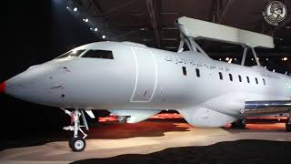 Rolling out the first GlobalEye AEW&C aircraft - Saab