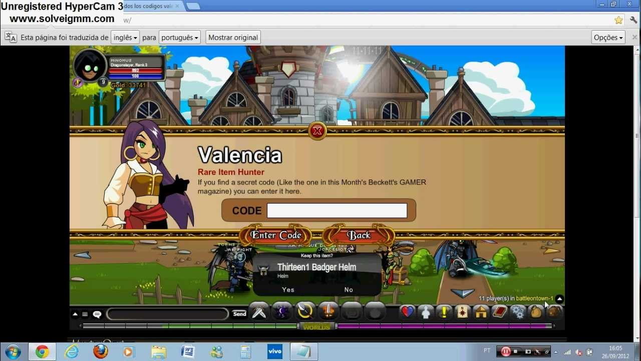 =AQW=All Special Codes of The Valencia -2012 (How to get