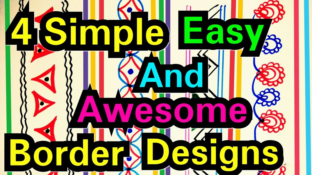Awesome Design How To Draw Simple Border Quick And Easy Project Frames