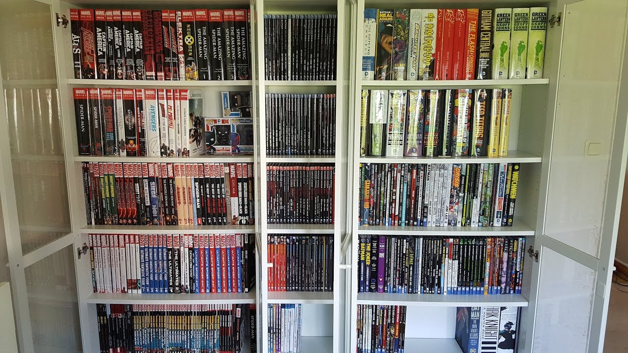 Graphic novel collection 2017 over 700 books! - YouTube