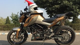 KTM Stunts 2016 | Gold Edition KTM | Awesome Stunts | KTM Duke 200 | KTM RC 200 | Gold Wrapped