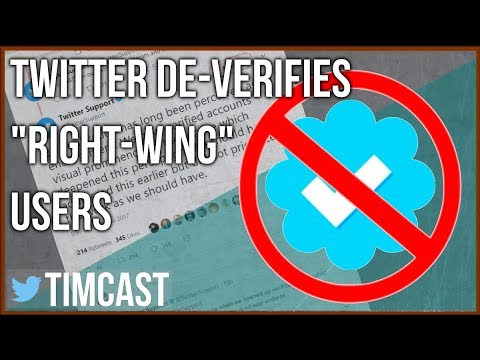 TWITTER REMOVES VERIFICATION FROM RIGHT WING PERSONALITIES