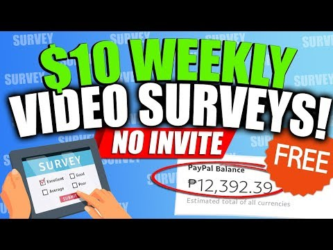Get $10 Weekly by Recording Video Surveys!