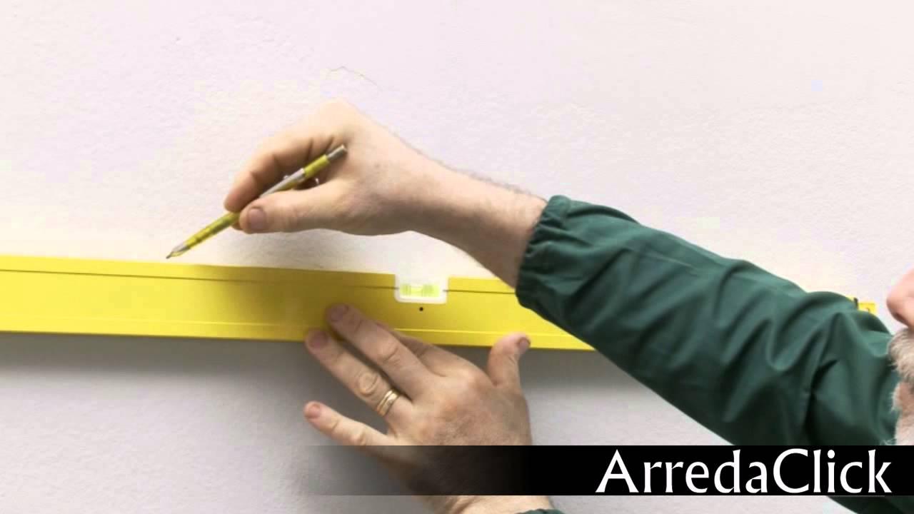 Come montare un mobile pensile per il bagno - YouTube