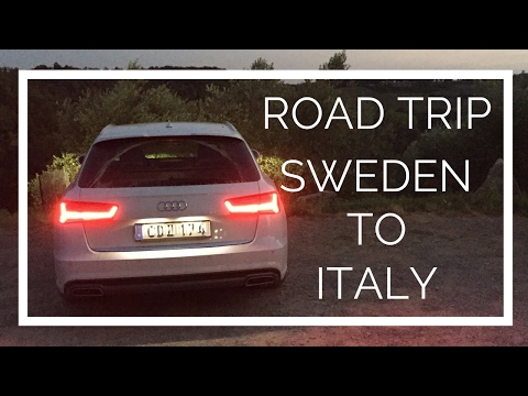 Road Trip Travel Vlog 2 -  Sweden To Italy - Euro Trip