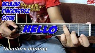 DI ANTARA BINTANG - HELLO (tutorial fingerstyle gitar)