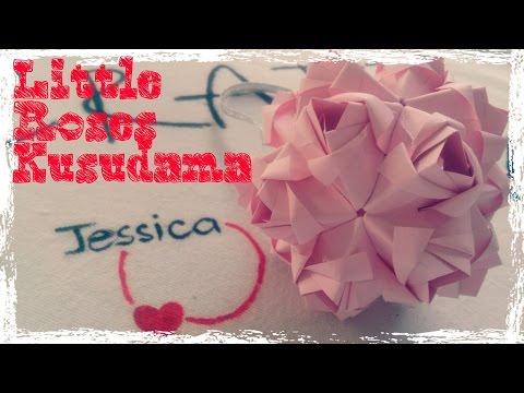 DIY - Gấp quả cầu hoa hồng bằng giấy - Origami