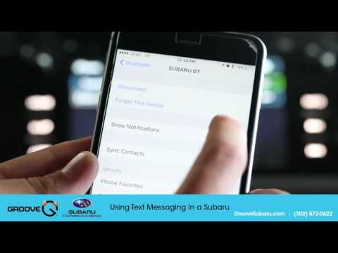 How to send texts from your Subaru - SMS messaging tutorial