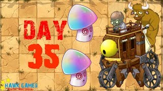 Plants vs Zombies 2 - Wild West - Day 35 BOSS [Zombot War Wagon 2.0] No Premium
