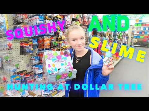 SQUISHY AND SLIME HUNTING AT DOLLAR TREE | Bryleigh Anne