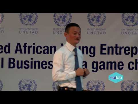 Ali Baba founder Jack Ma talks to entrepreneurs at Nailab Incubator