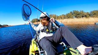 Kayak Bass Fishing a NEW Lake w CRAZY Colored Water