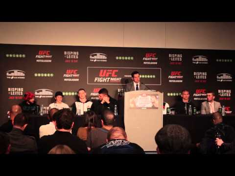 UFC Fight Night: Bisping Vs Leites Post-event Press Conference