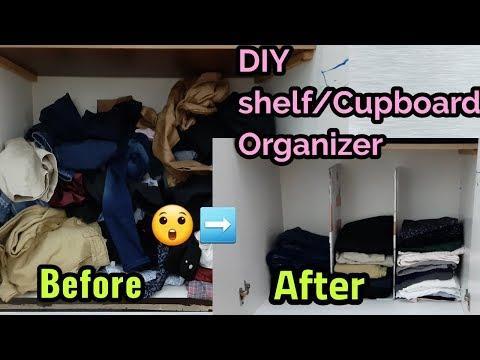 How to make shelf organizer/divider./ DIY closet organization