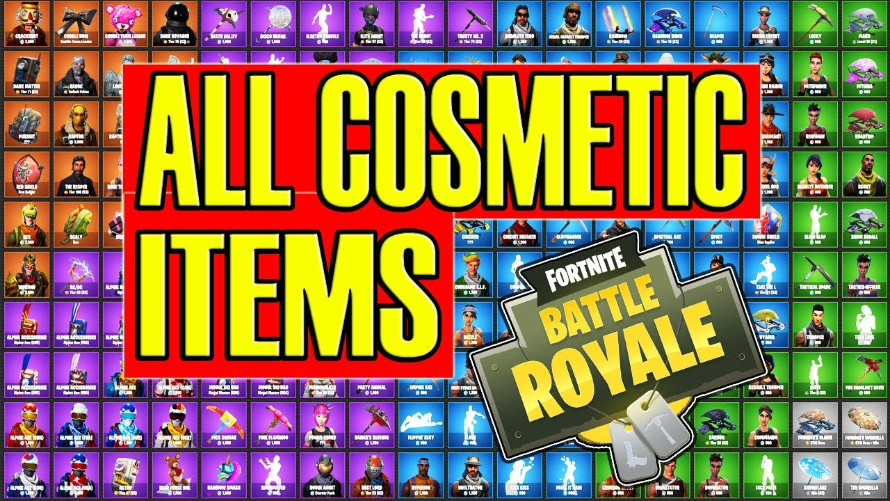 ALL Fortnite Skins/Cosmetics in the Game! Pickaxes ...
