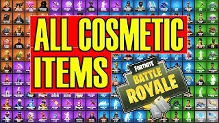 ALL Fortnite Skins/Cosmetics in the Game! Pickaxes, Gliders, Emotes, Skins