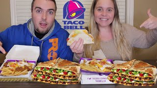 TACO BELL MUKBANG 먹방 | HOW I MET MY HUSBAND STORY TIME | Kaitlins Eating Show