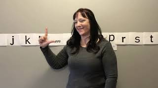 Sign Language Corner with Ruthie: Learn the alphabet in ASL!