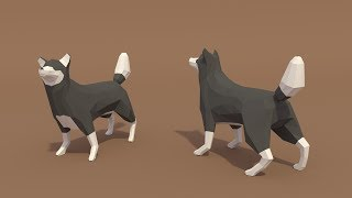 | PigArt | BLENDER Timelapse: Low poly Wolf