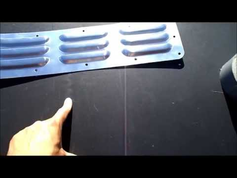 Off-Road Hood Louver Panel DIY install cheap heat extraction vents Econoline Project part 17