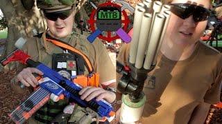 Rob's Nerf War/HvZ Loadout + Nerf Shotgun | Make Test Battle Video