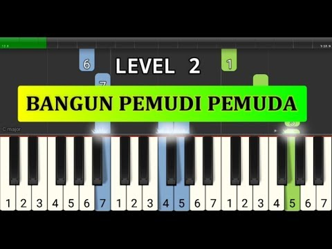 piano tutorial bangun pemudi pemuda -  lagu wajib nasional