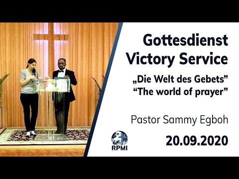 """RPMI-Gottesdienst - Livestream vom 20.09.2020 - Pastor Sammy Egboh """"Die Welt des Gebets"""""""