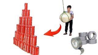 PHD | Quả Bóng Khổng Lồ Và Kim Tự Tháp 100 Lon Cocacola | Giant Balls And Pyramid Coca Cola Cans