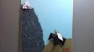 Origami Knight On Horse Display Shikishi