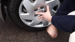 How to replace new wheel cover Toyota Camry. Years 2002 to 2010