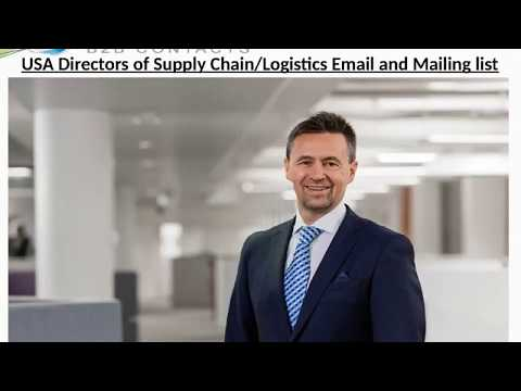 USA Directors of Supply Chain Logistics Email and