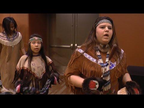 Athabascan dance group Ida'ina K'eljeshna at AFN convention