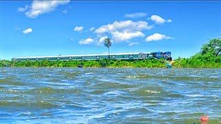 Furious Banalata Express  Passing Dilpashar Beel || Beautiful Bangladesh railway ??