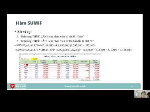 Hướng dẫn sử dụng hàm SUMIF/COUNIF trong Excel