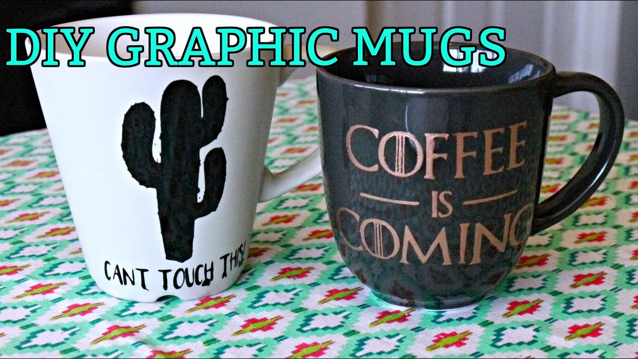 Diy Graphic Mugs Game Of Thrones Inspired Youtube