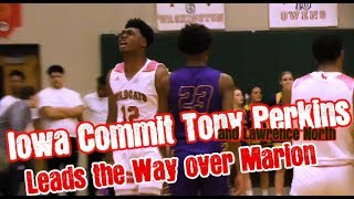 Iowa Commit Tony Perkins and Lawrence North Leads the Way Past Jalen Blackmon and Marion High School