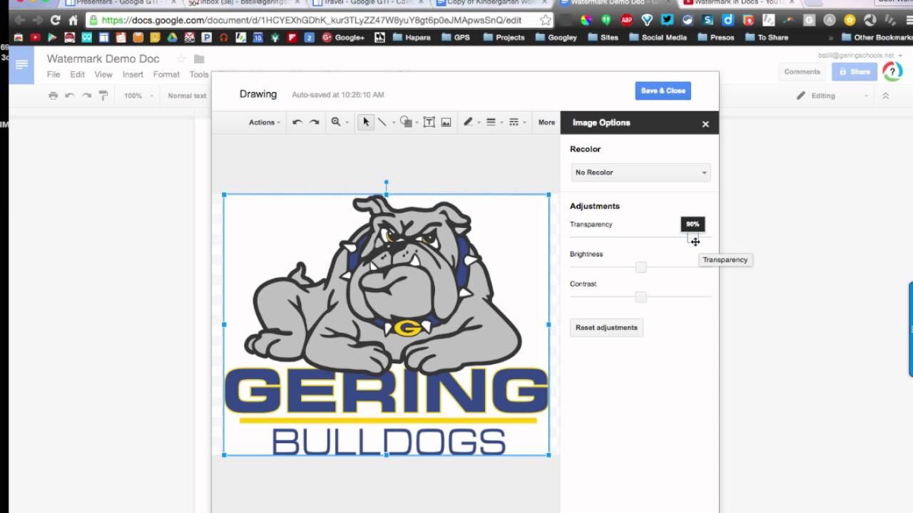 how to get ruler on google doc
