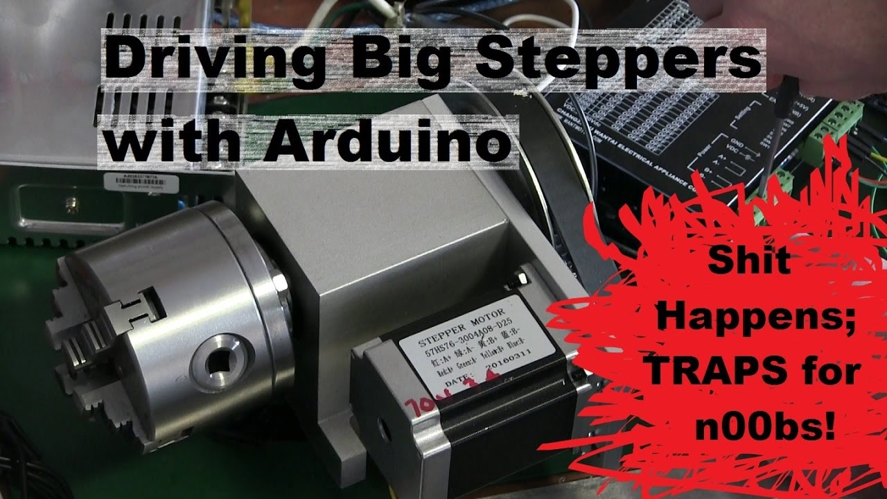 Arduino Big Stepper Motor Control Rotary Axis For Milling Machine Atc Dr Switch Wiring Diagram Youtube