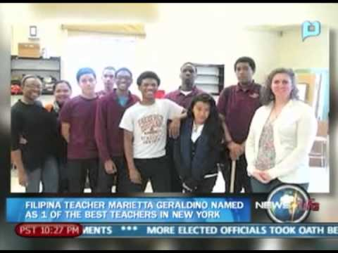 The Best and Brightest: Filipina teacher Marrietta Geraldino named as 1 of the best teachers in NY
