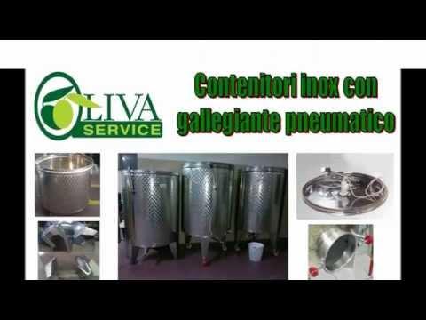 Contenitori in acciaio inox per olio, vino, grano, etc