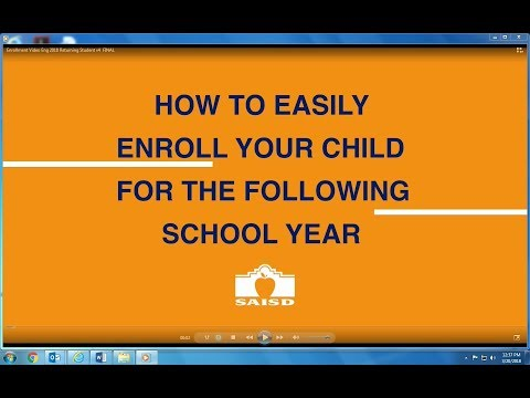 SAISD Enrollment Video for New Students (English Version)