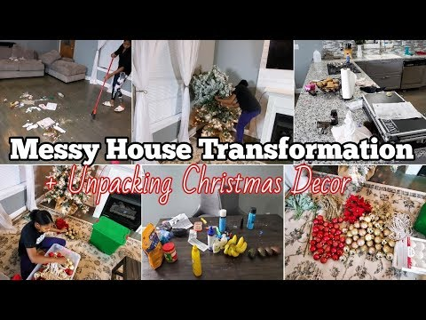 Cleaning Motivation | Messy House Transformation Getting Ready For Christmas Time Lapse Cleaning