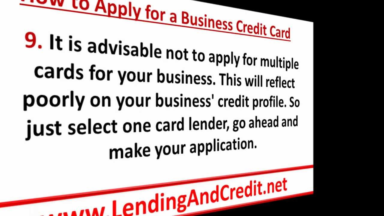 How to Apply for a Business Credit Card in 9 Simple Steps - YouTube