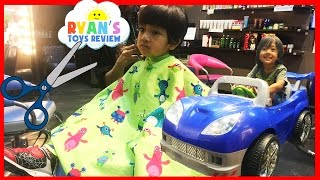FIRST HAIRCUT at the store Power Wheels Egg Surprise Toy Captain America Civil War Mystery Box