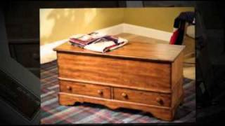 Woodland Cherry Jewelry Storage Cedar Chest By Powell
