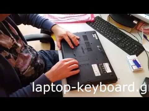 Toshiba Satellite L500D Keyboard Replacement / Αλλαγή πληκτρολογίου Toshiba Satellite L500