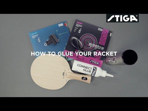 STIGA - How to glue your racket