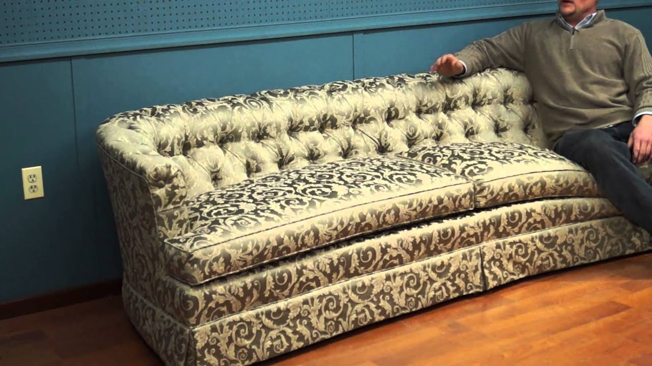 Henredon Reupholstered Tufted Sofa   YouTube