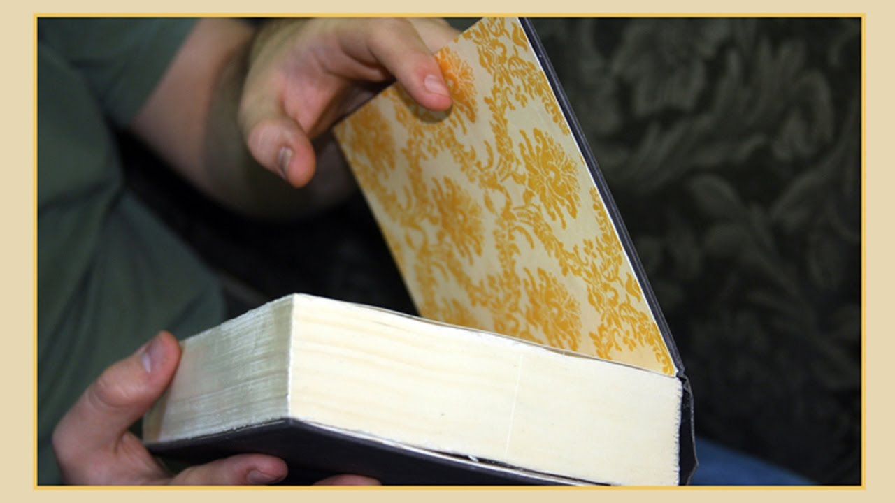 Diy Book Safe With Secret Compartment From A Hollowed Out Book
