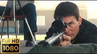 На стрельбище. Джек Ричер кладет три пули в центр.